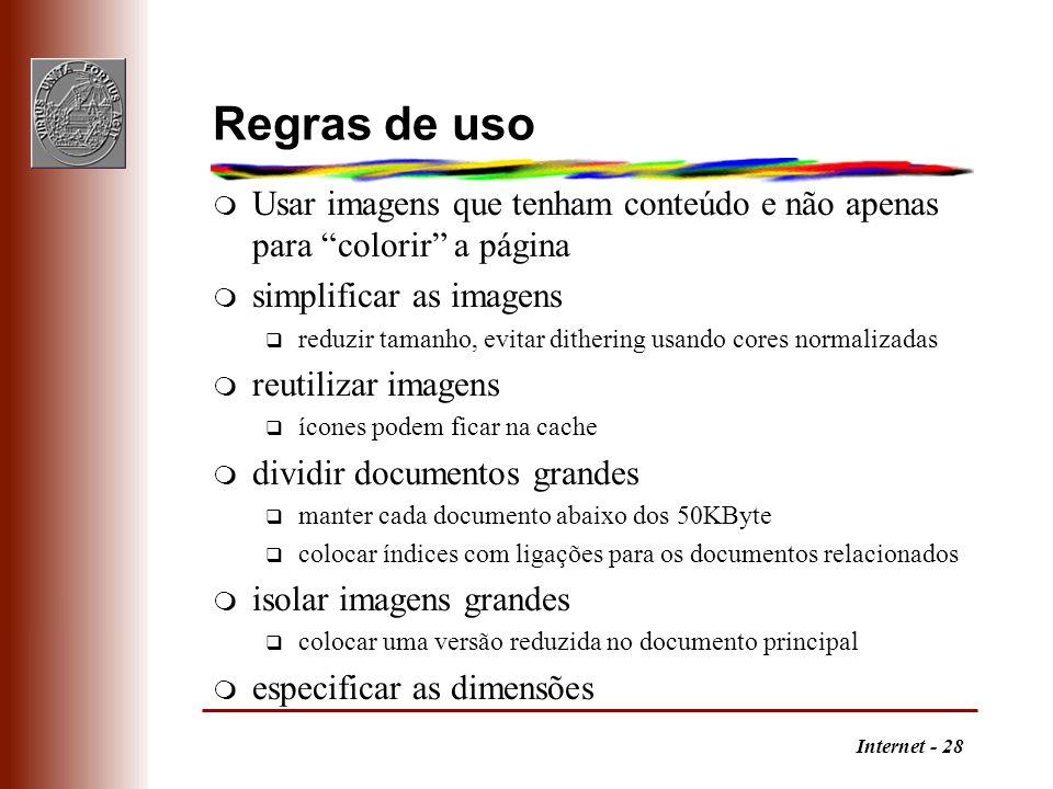 Regras de usoUsar imagens que tenham conteúdo e não apenas para colorir a página. simplificar as imagens.