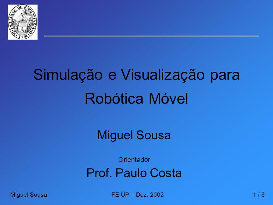 Simulação e Visualização para Robótica Móvel