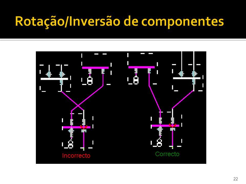 Rotação/Inversão de componentes