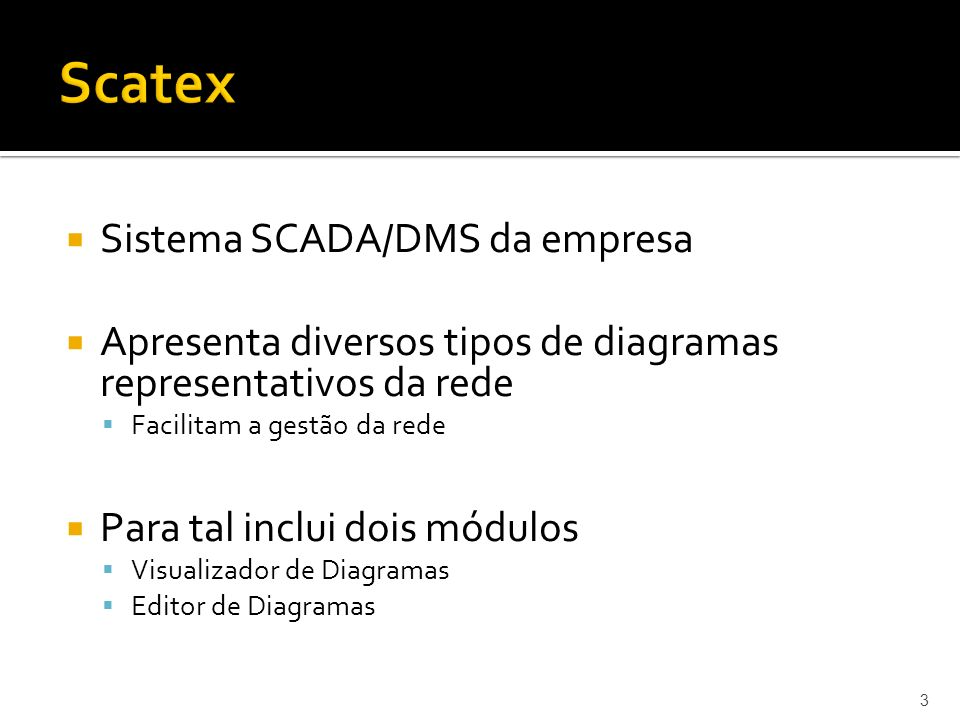 Scatex Sistema SCADA/DMS da empresa