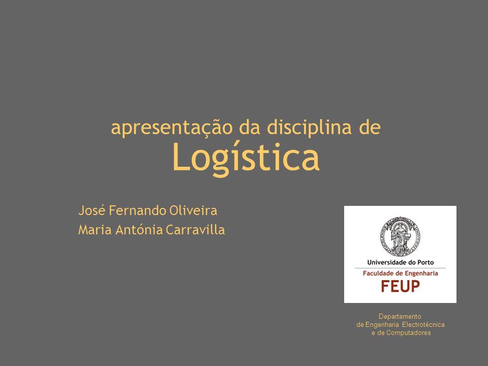 apresentação da disciplina de Logística