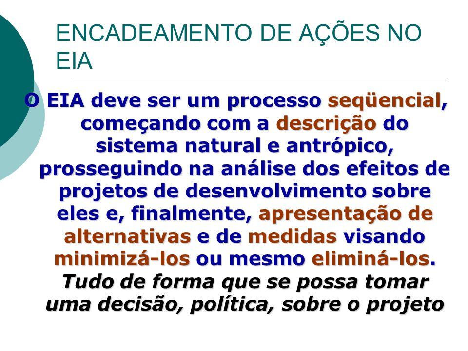 ENCADEAMENTO DE AÇÕES NO EIA