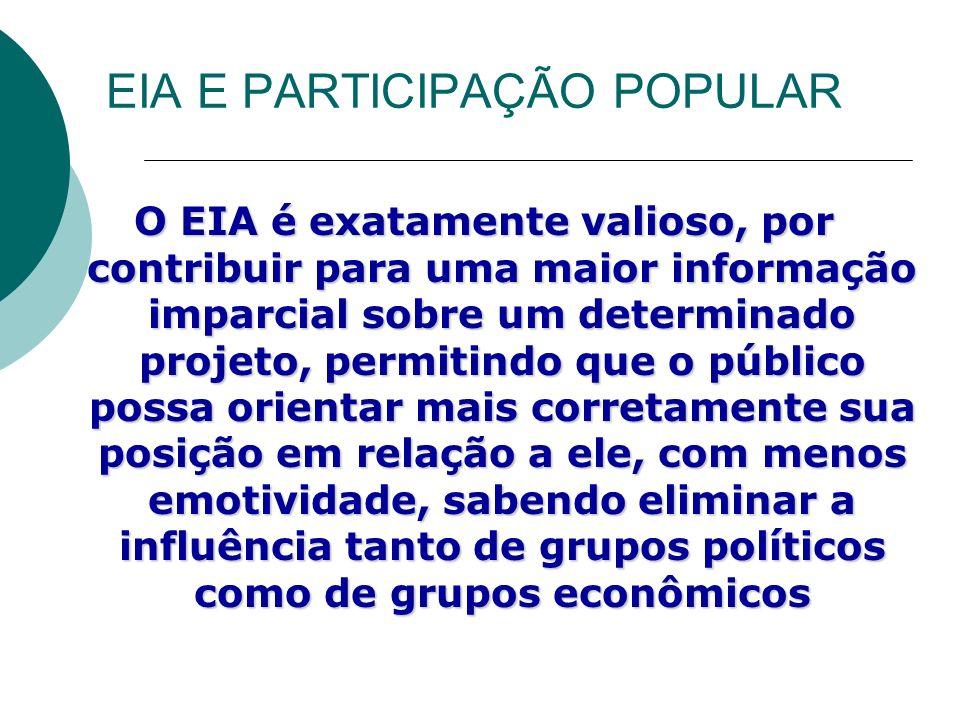 EIA E PARTICIPAÇÃO POPULAR