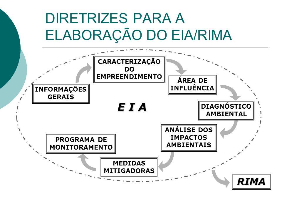 DIRETRIZES PARA A ELABORAÇÃO DO EIA/RIMA