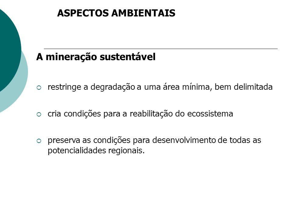 A mineração sustentável
