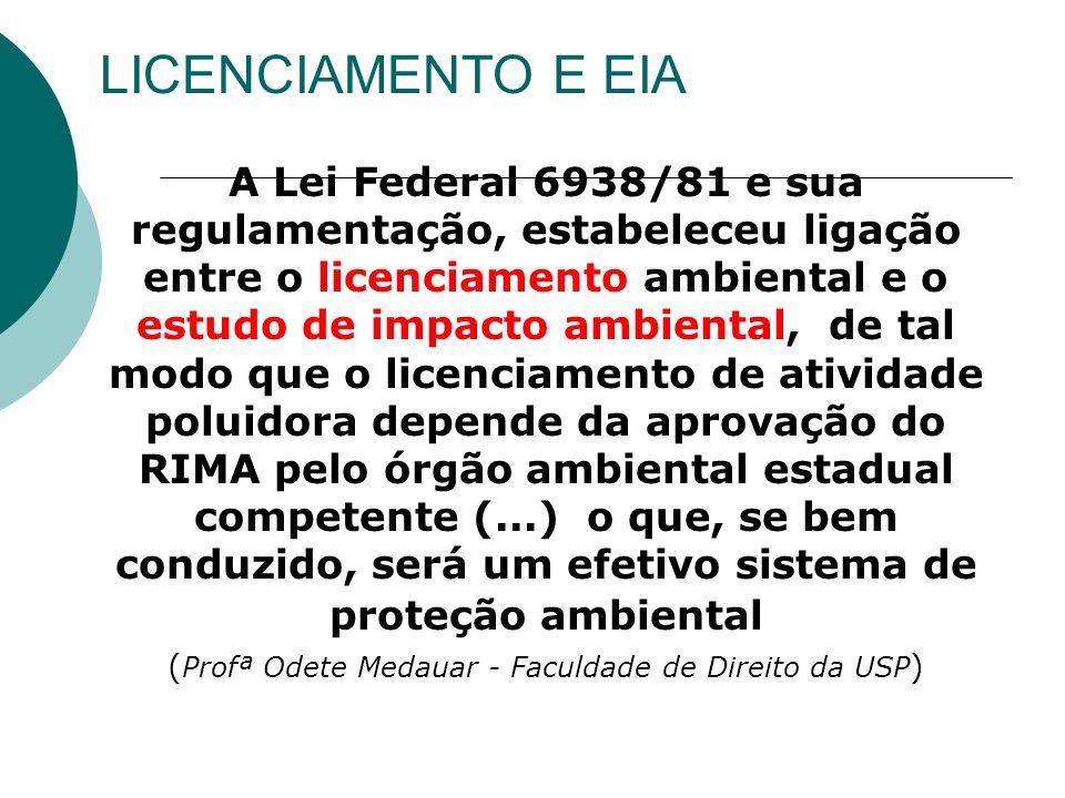 (Profª Odete Medauar - Faculdade de Direito da USP)