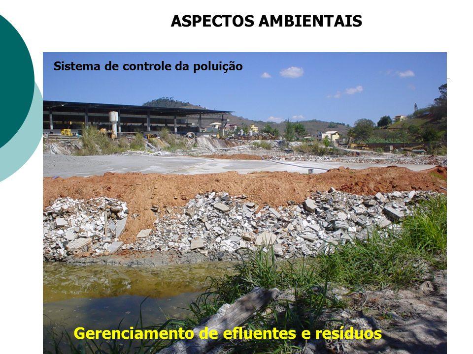 Gerenciamento de efluentes e resíduos