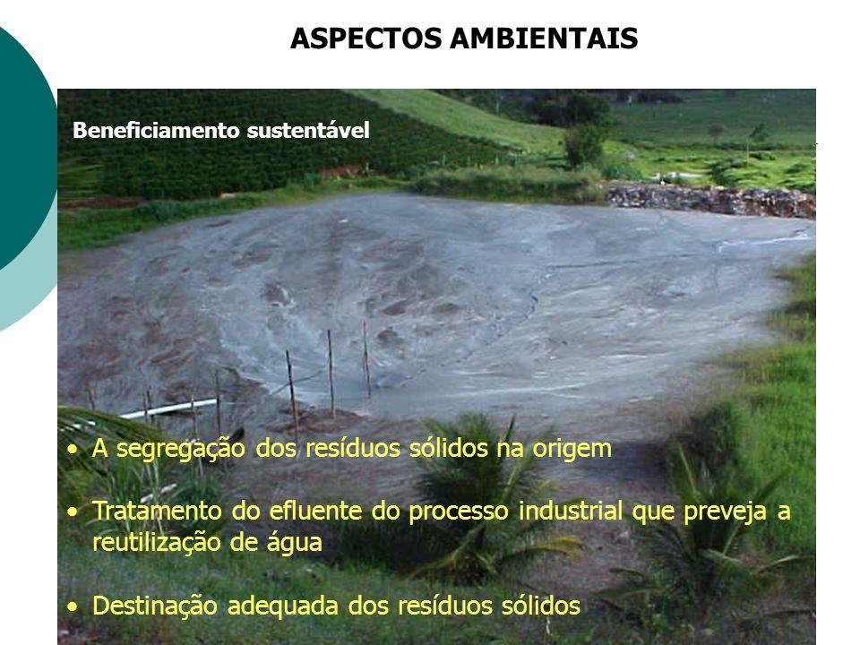 ASPECTOS AMBIENTAIS A segregação dos resíduos sólidos na origem