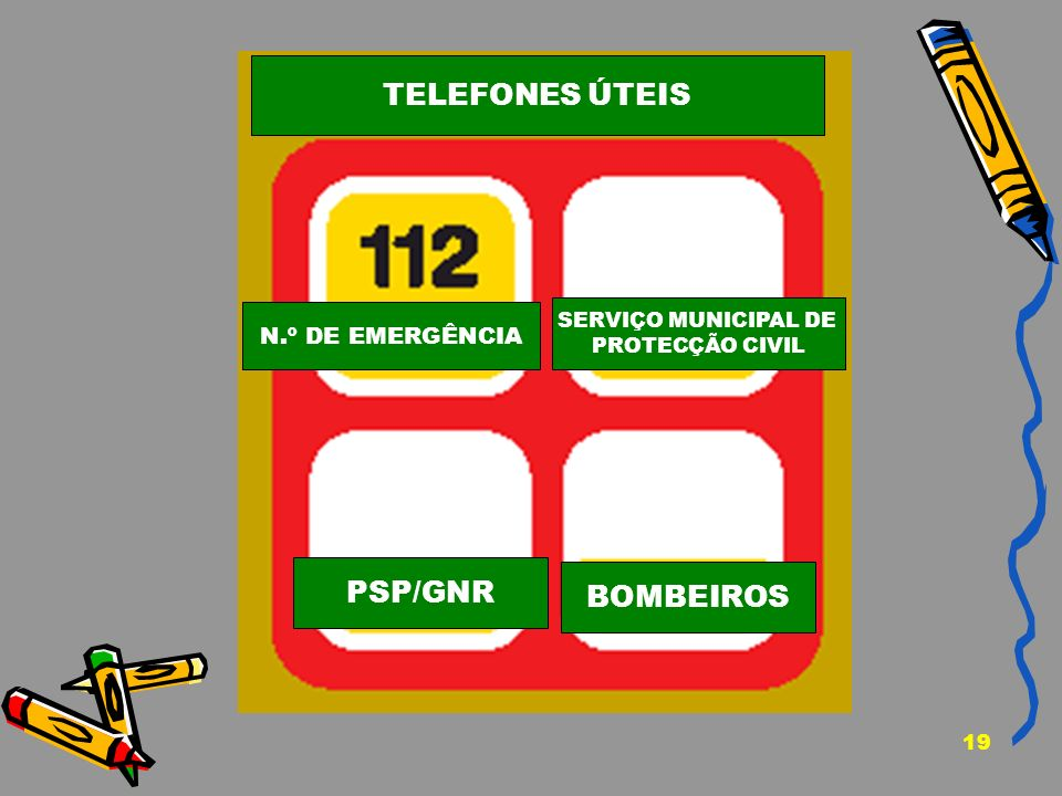 TELEFONES ÚTEIS PSP/GNR BOMBEIROS