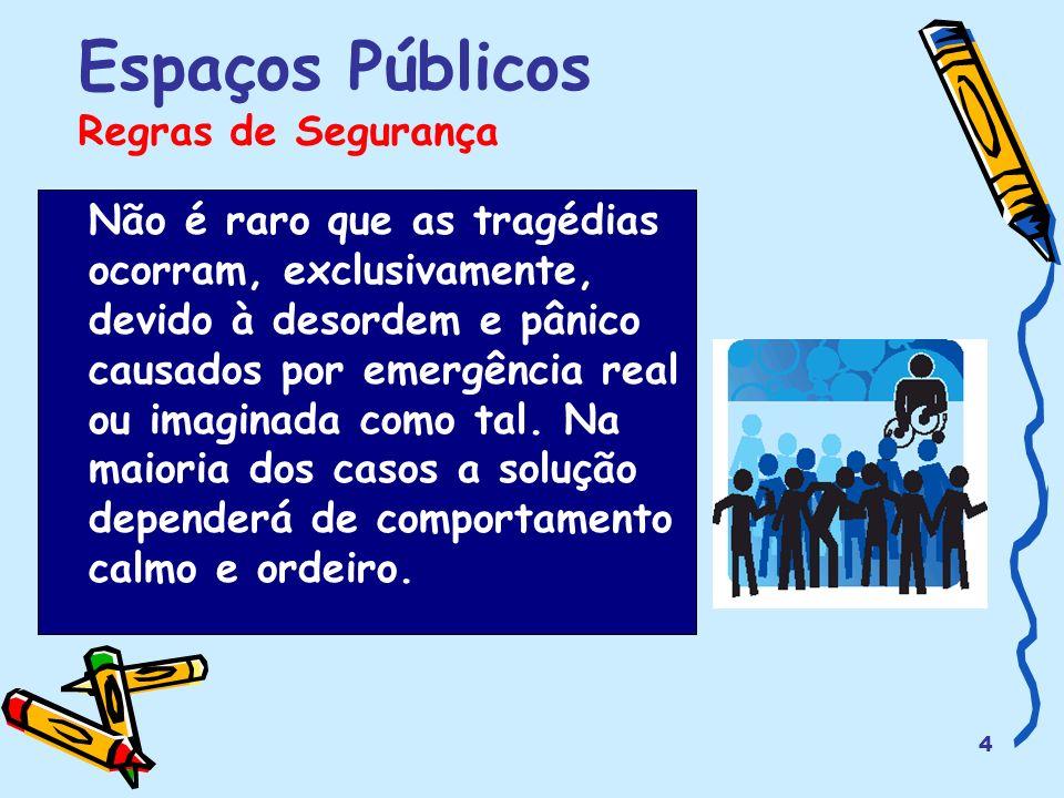 Espaços Públicos Regras de Segurança
