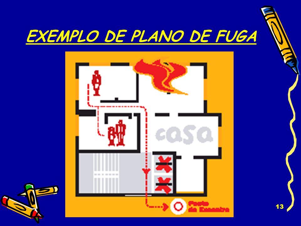 EXEMPLO DE PLANO DE FUGA