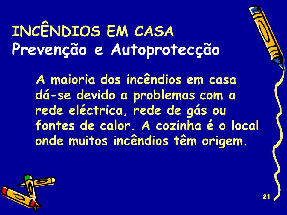 INCÊNDIOS EM CASA Prevenção e Autoprotecção