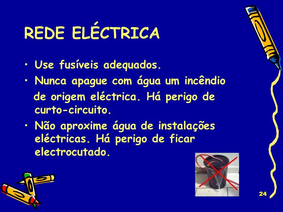 REDE ELÉCTRICA Use fusíveis adequados.