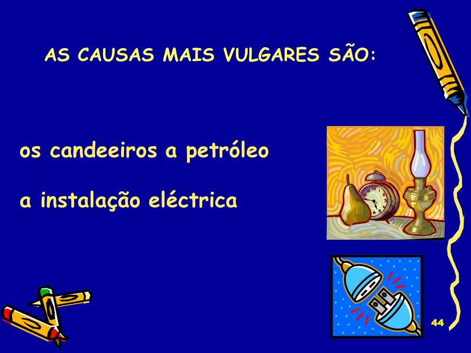 AS CAUSAS MAIS VULGARES SÃO: