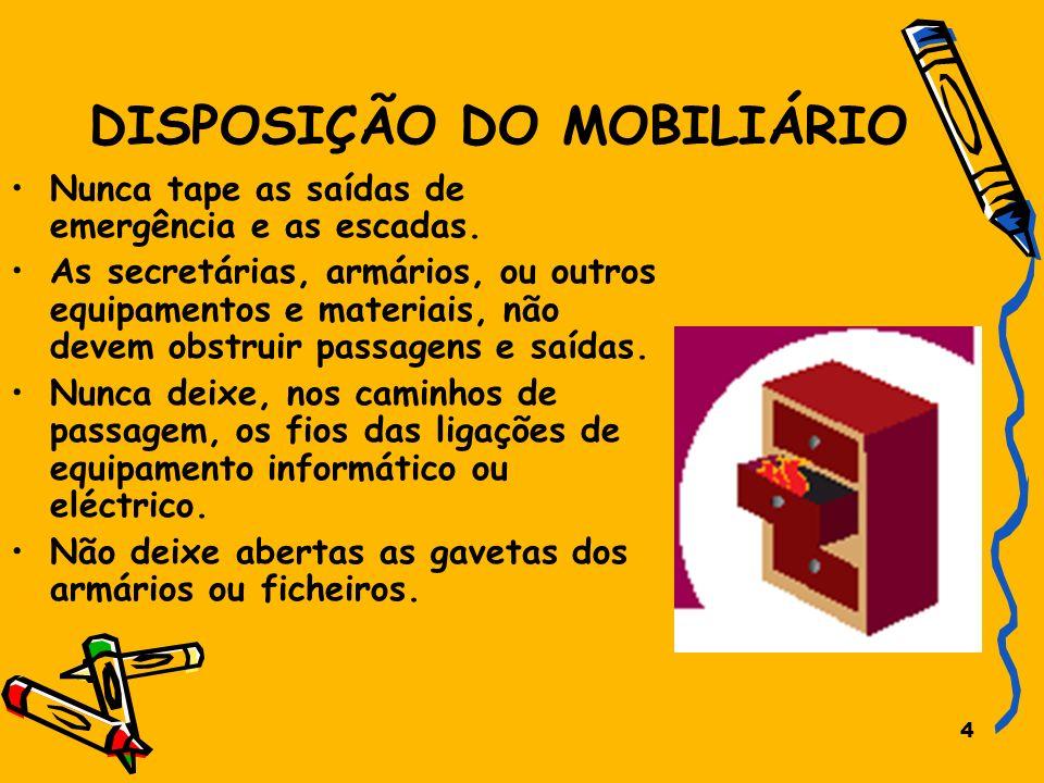 DISPOSIÇÃO DO MOBILIÁRIO