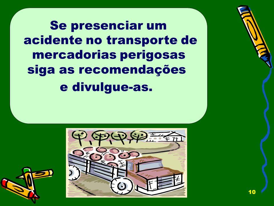 acidente no transporte de mercadorias perigosas