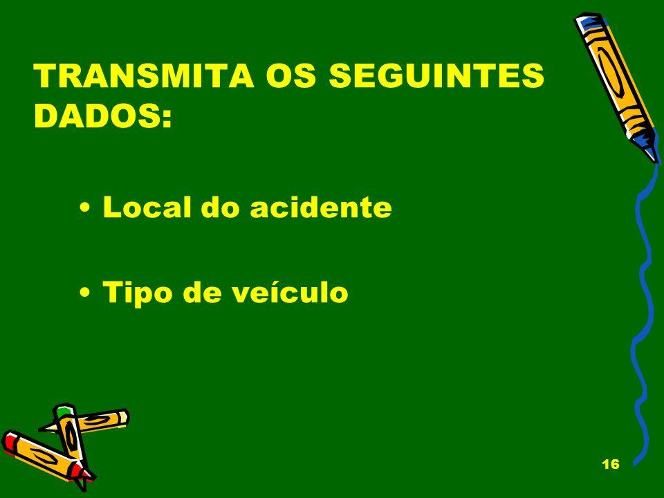 TRANSMITA OS SEGUINTES DADOS: