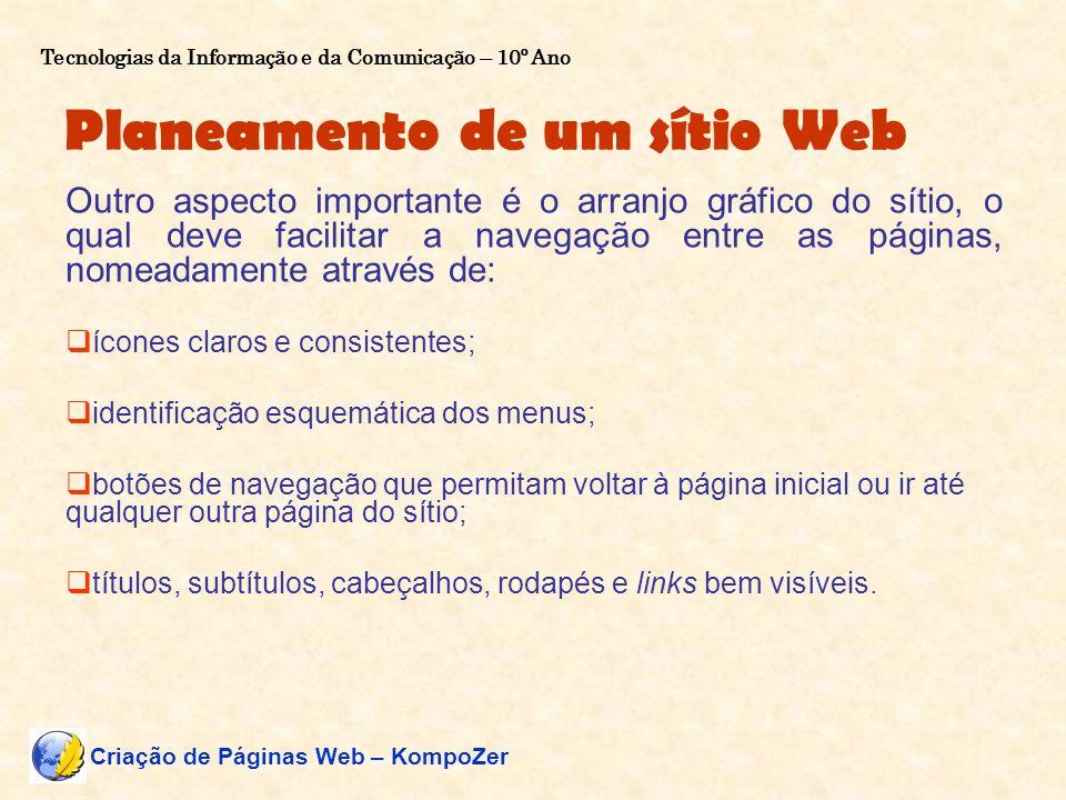 Planeamento de um sítio Web