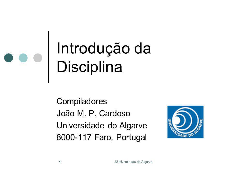 Introdução da Disciplina