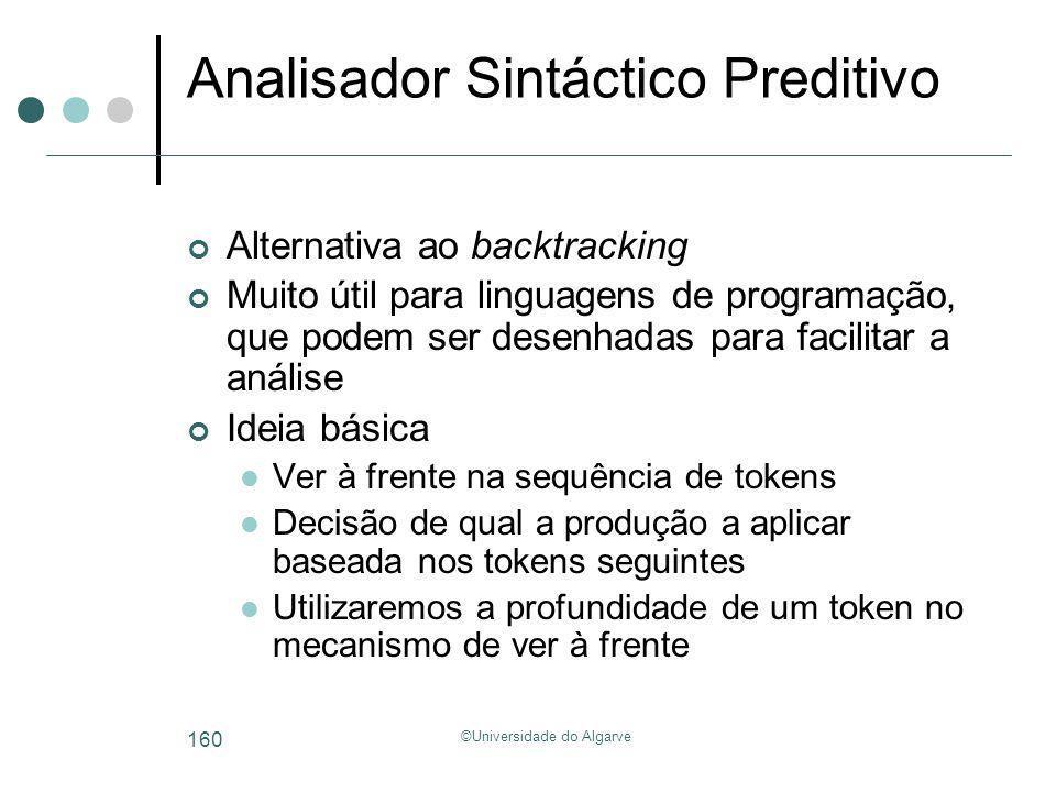 Analisador Sintáctico Preditivo