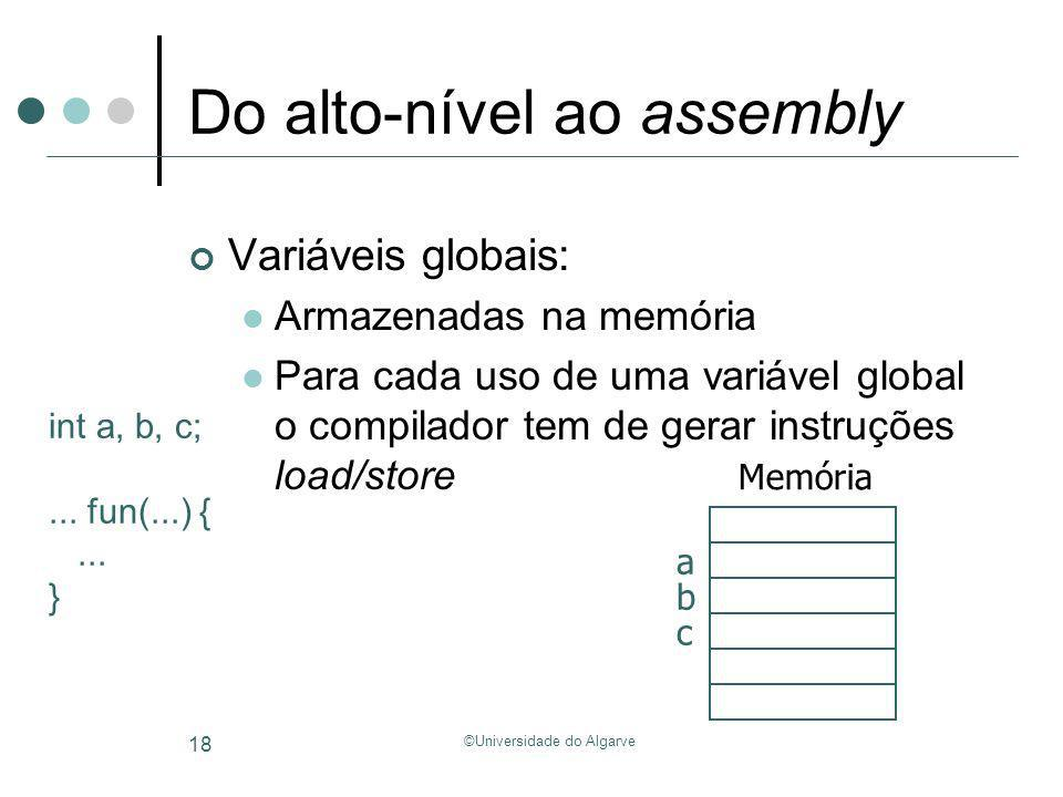 Do alto-nível ao assembly