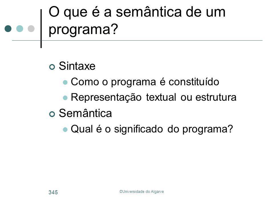 O que é a semântica de um programa