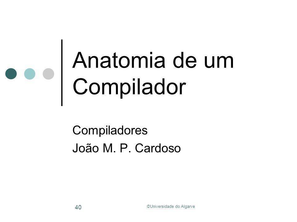 Anatomia de um Compilador