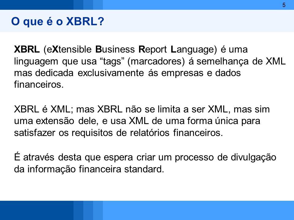 O que é o XBRL