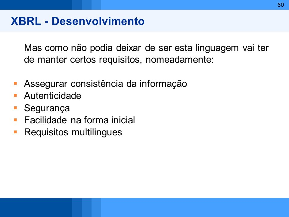 XBRL - Desenvolvimento
