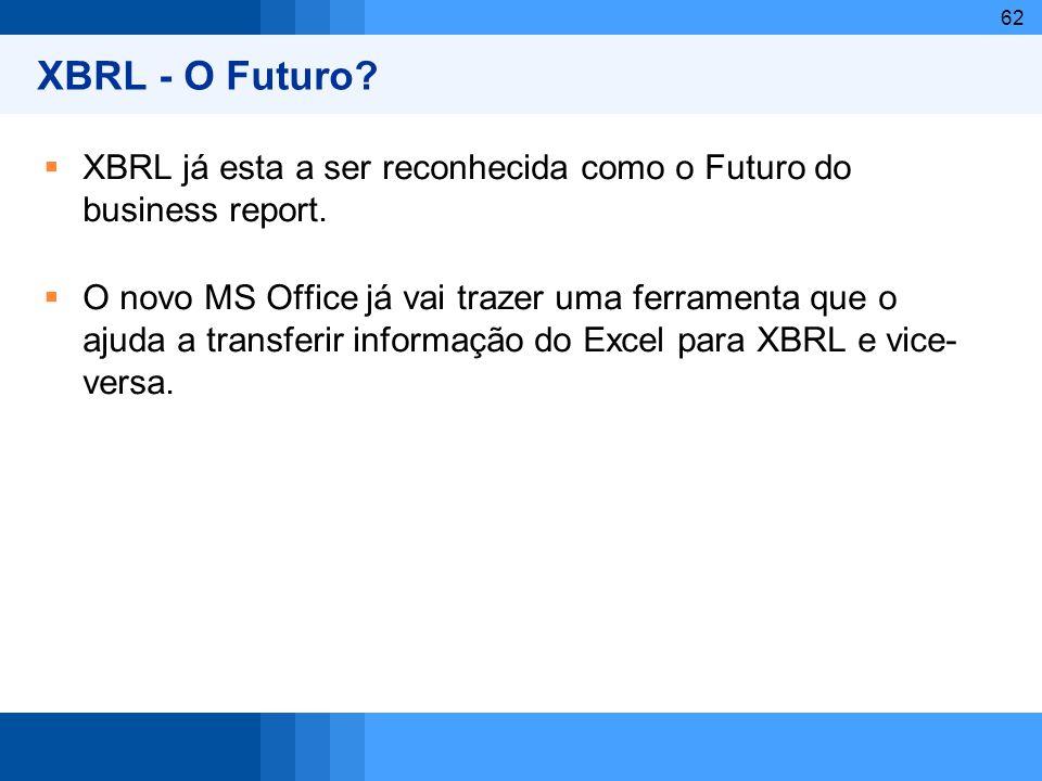 XBRL - O Futuro XBRL já esta a ser reconhecida como o Futuro do business report.