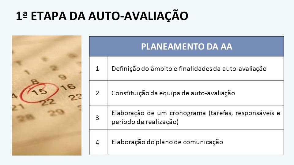 1ª ETAPA DA AUTO-AVALIAÇÃO