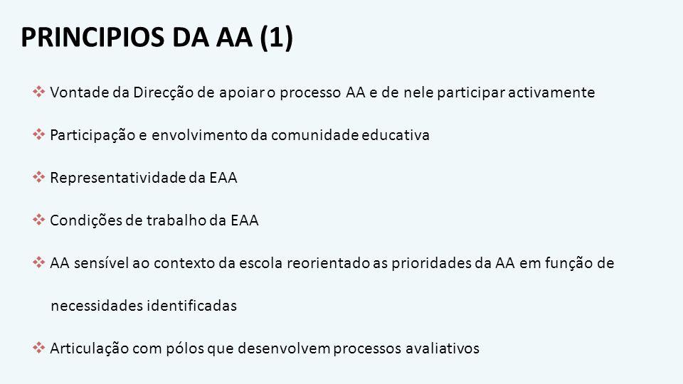 PRINCIPIOS DA AA (1) Vontade da Direcção de apoiar o processo AA e de nele participar activamente.