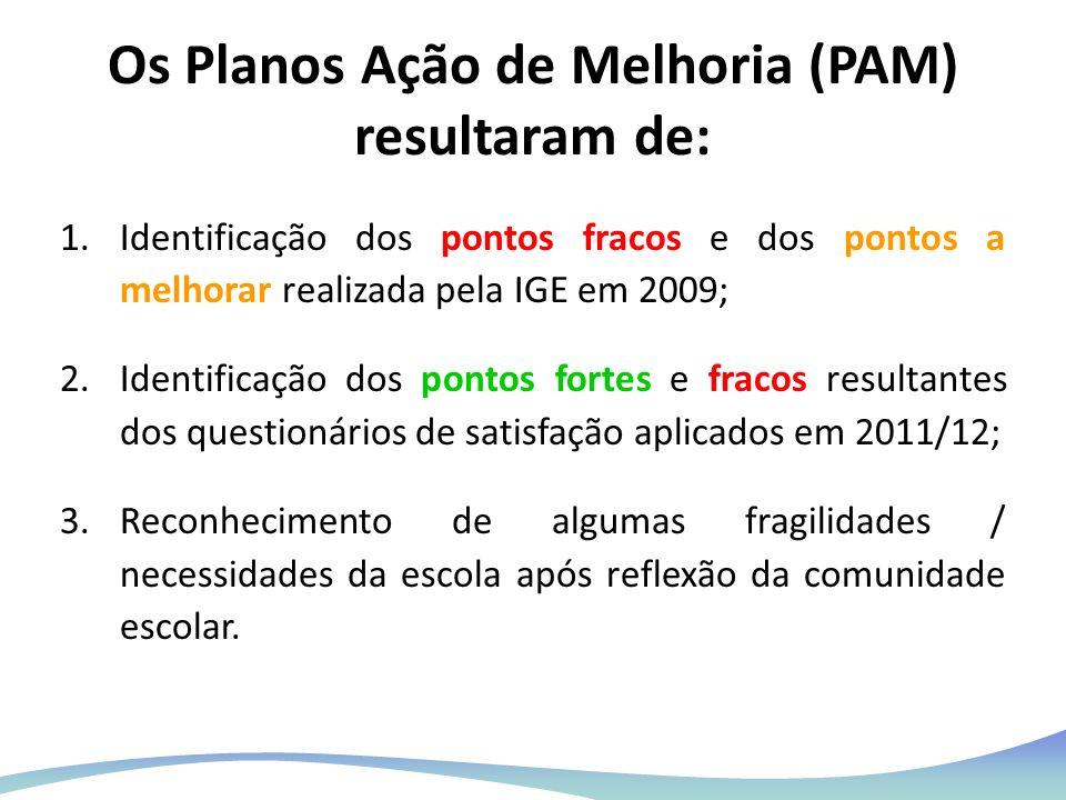 Os Planos Ação de Melhoria (PAM) resultaram de: