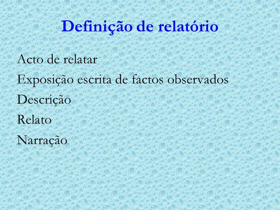 Definição de relatório