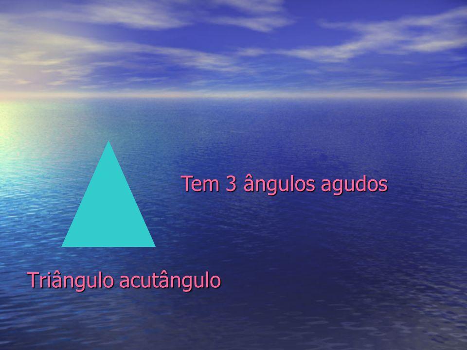 Tem 3 ângulos agudos Triângulo acutângulo