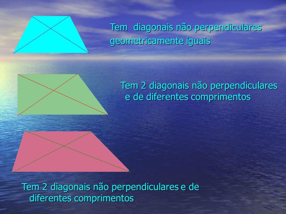 Tem diagonais não perpendiculares