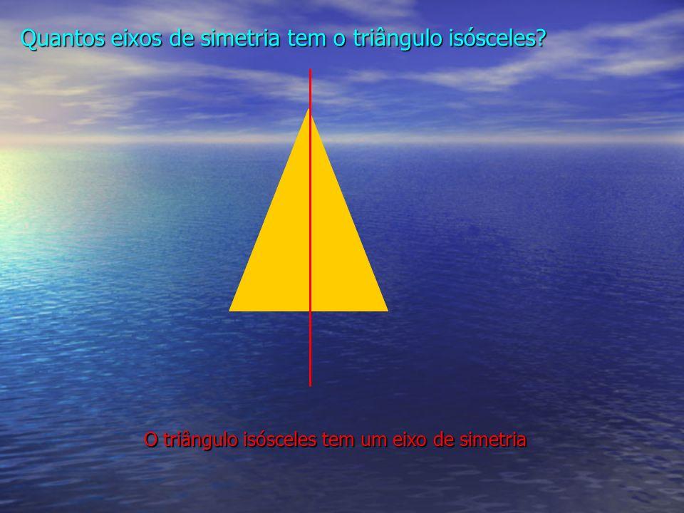 Quantos eixos de simetria tem o triângulo isósceles