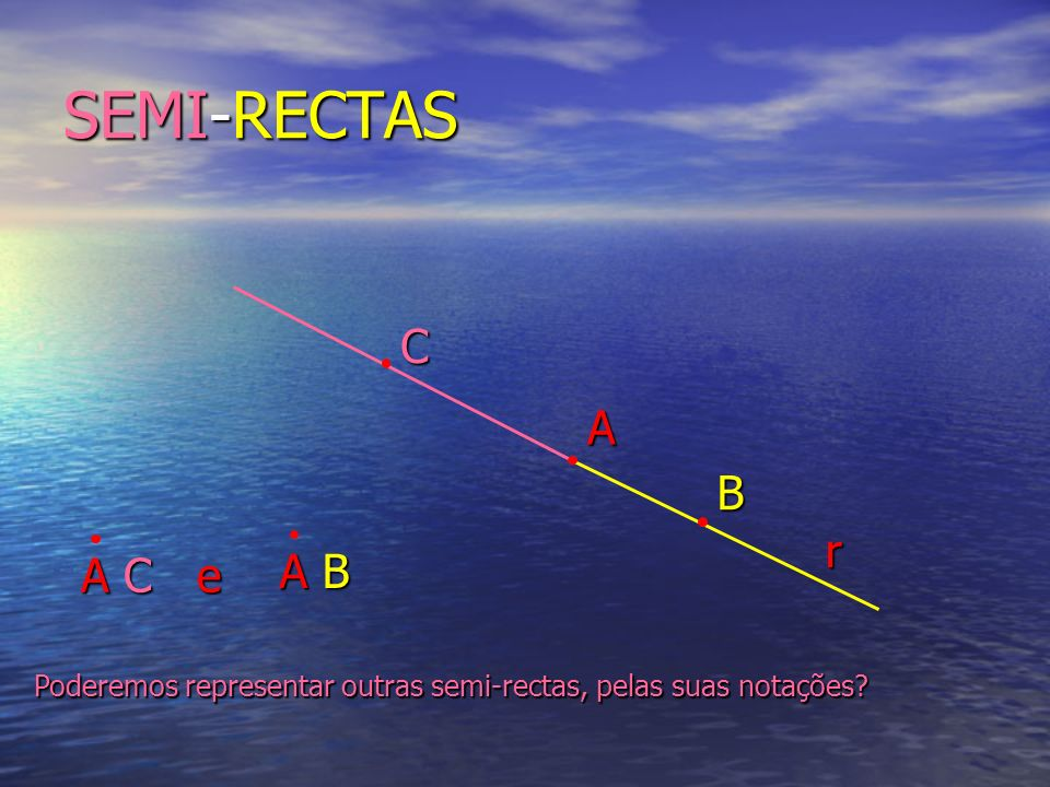 SEMI-RECTAS C A B r A C e A B