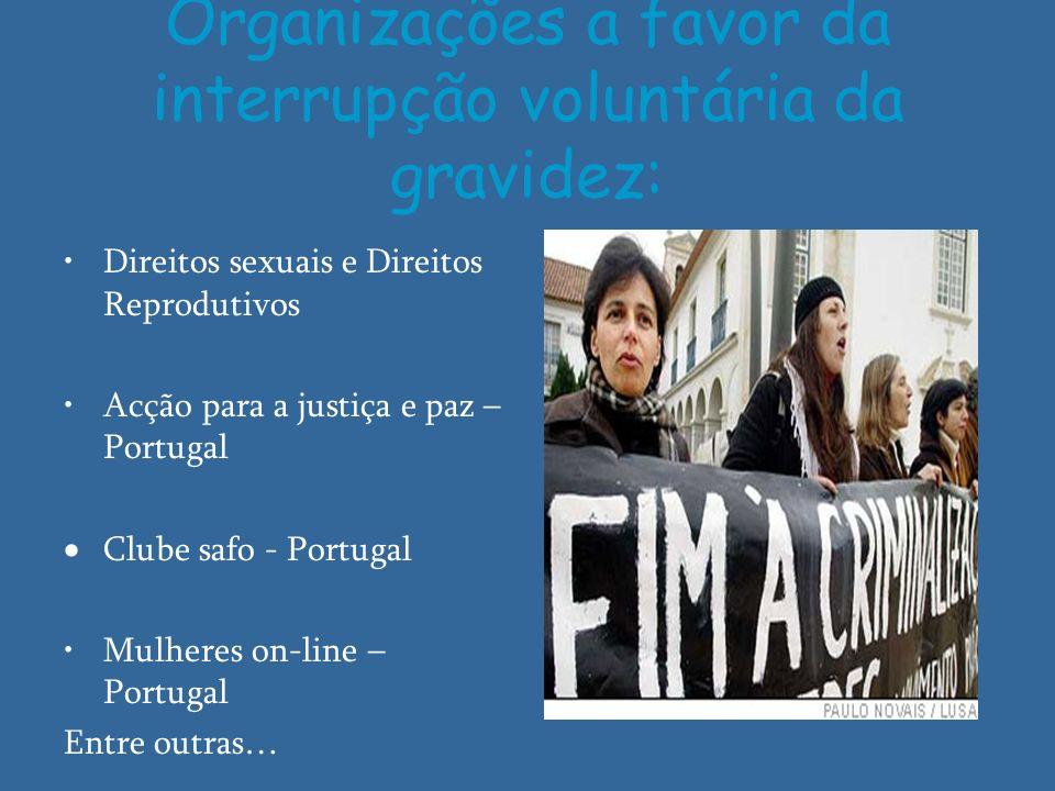 Organizações a favor da interrupção voluntária da gravidez: