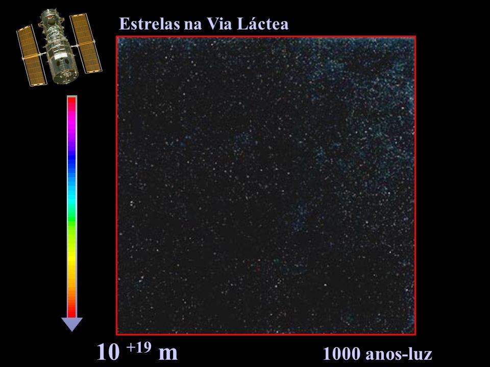 Estrelas na Via Láctea 10 +19 m 1000 anos-luz