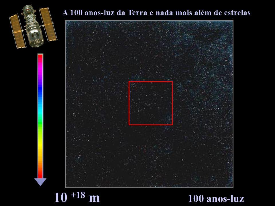 A 100 anos-luz da Terra e nada mais além de estrelas