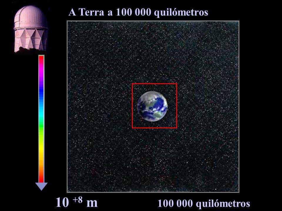 A Terra a 100 000 quilómetros 10 +8 m 100 000 quilómetros