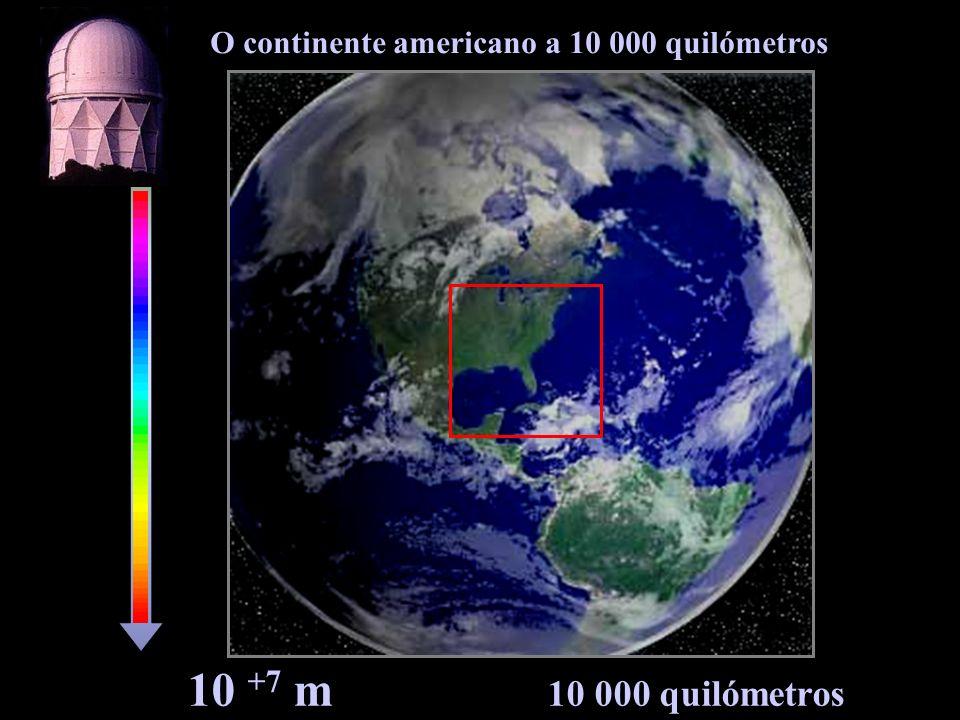O continente americano a 10 000 quilómetros