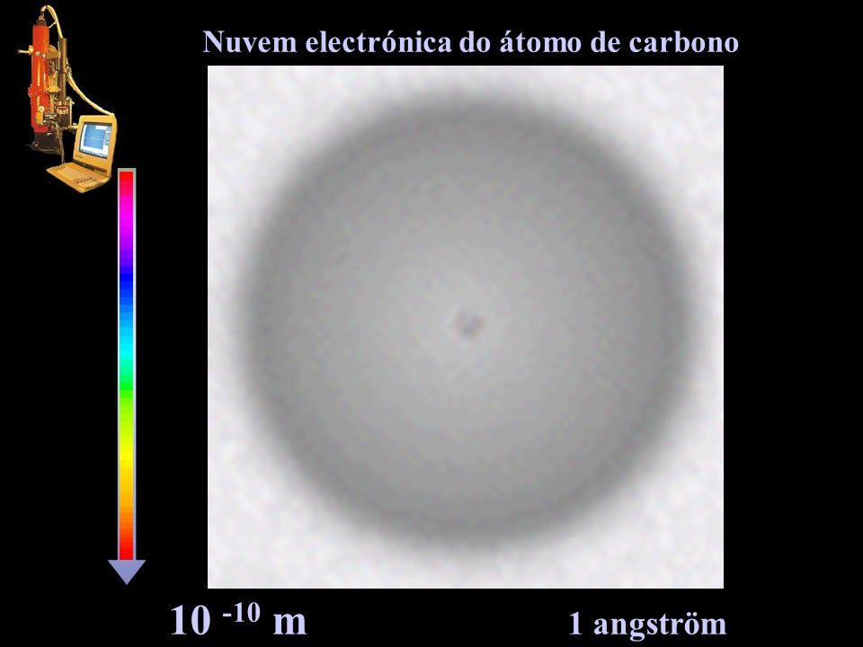 Nuvem electrónica do átomo de carbono