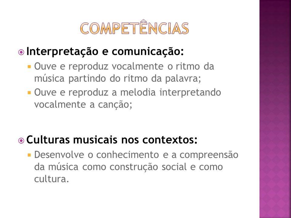 Competências Interpretação e comunicação: