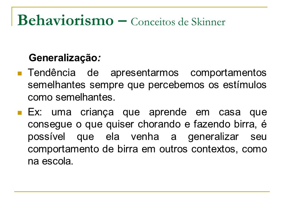 Behaviorismo – Conceitos de Skinner