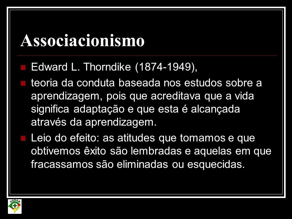 Associacionismo Edward L. Thorndike (1874-1949),