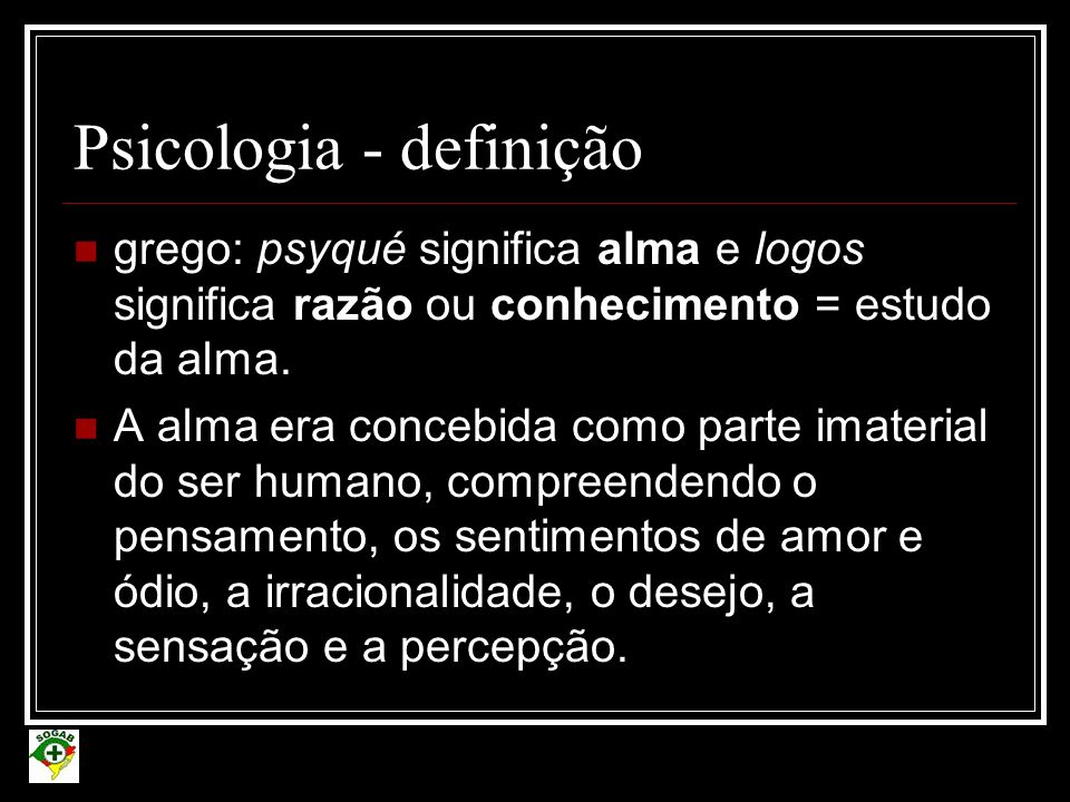 Psicologia - definição