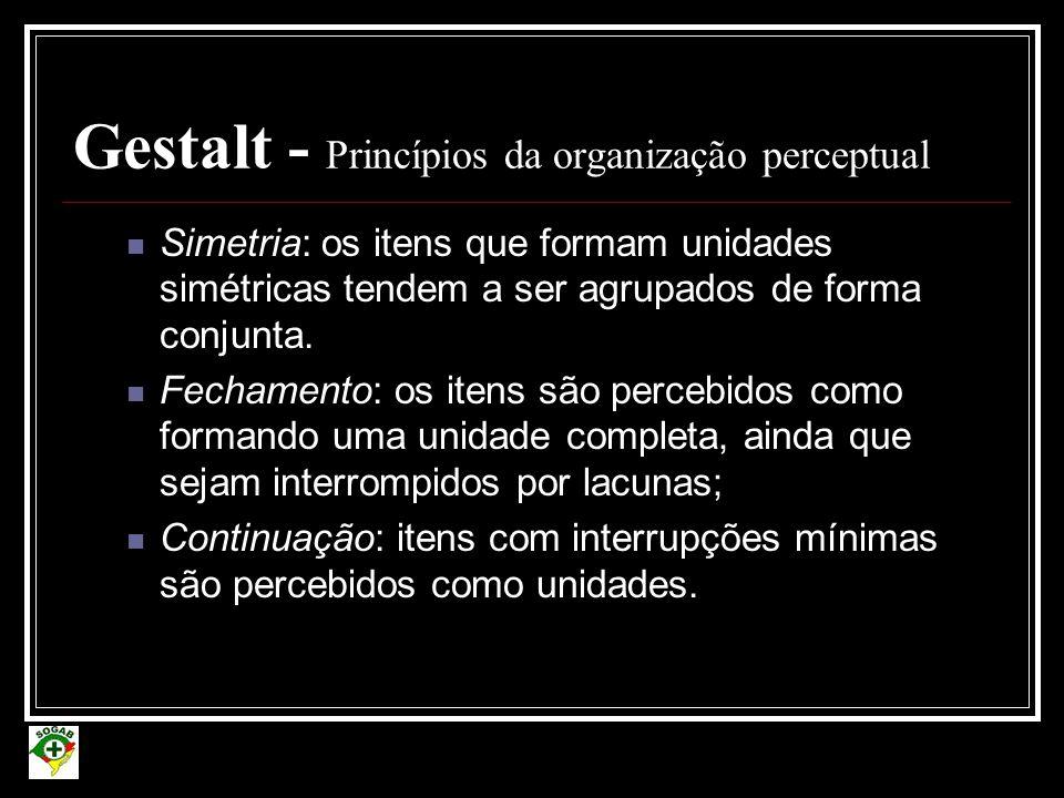 Gestalt - Princípios da organização perceptual