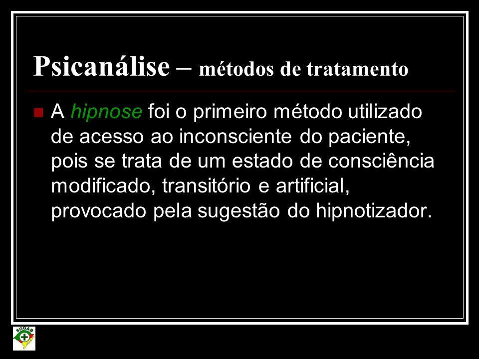 Psicanálise – métodos de tratamento